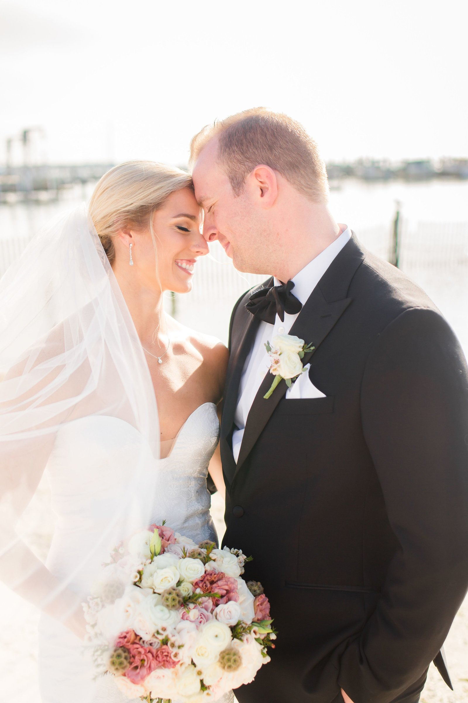 summer wedding at Brant Beach Yacht Club