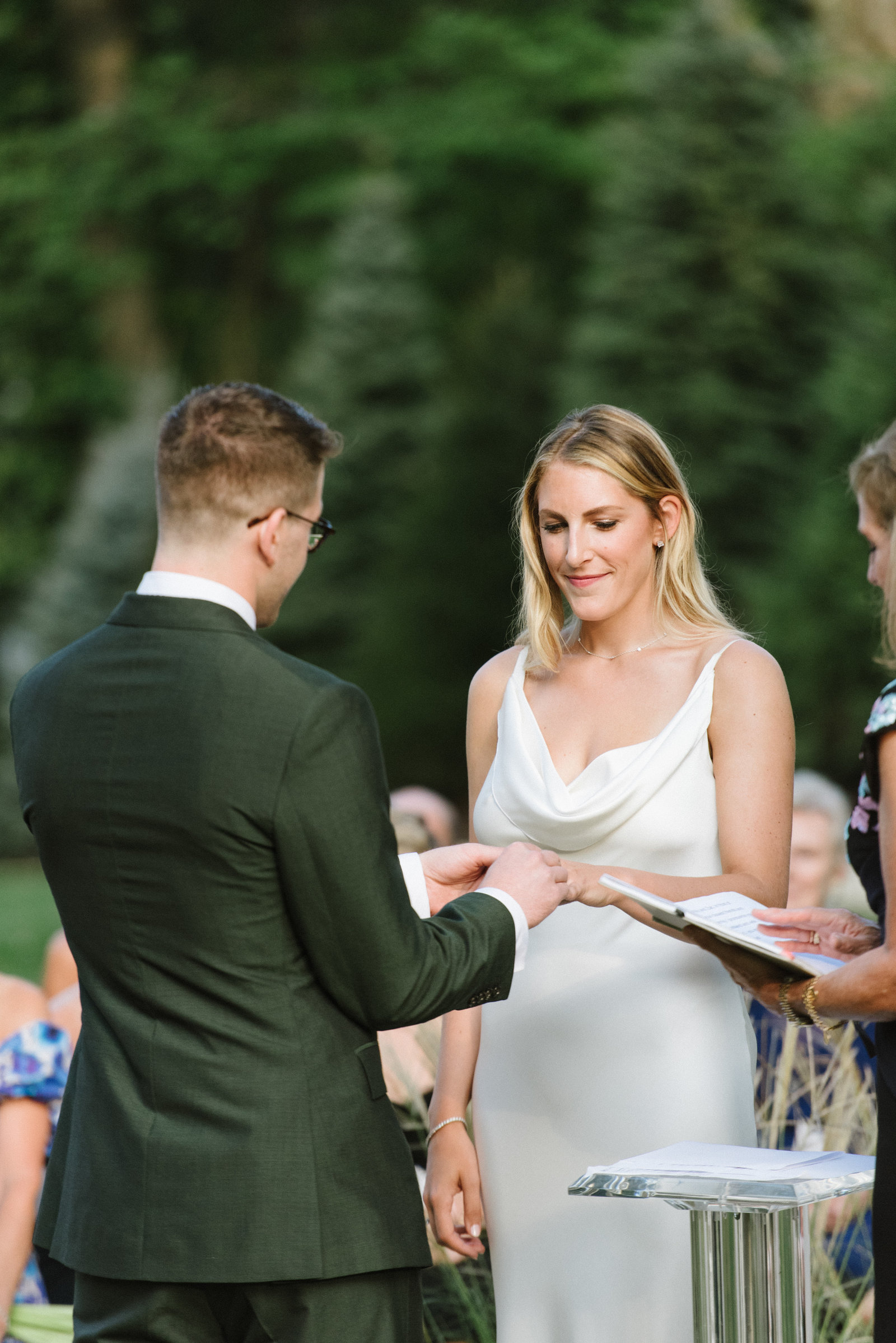 Outdoor Ceremony_Home Tented Wedding_Boho Wedding_Darien_Connecticut_7