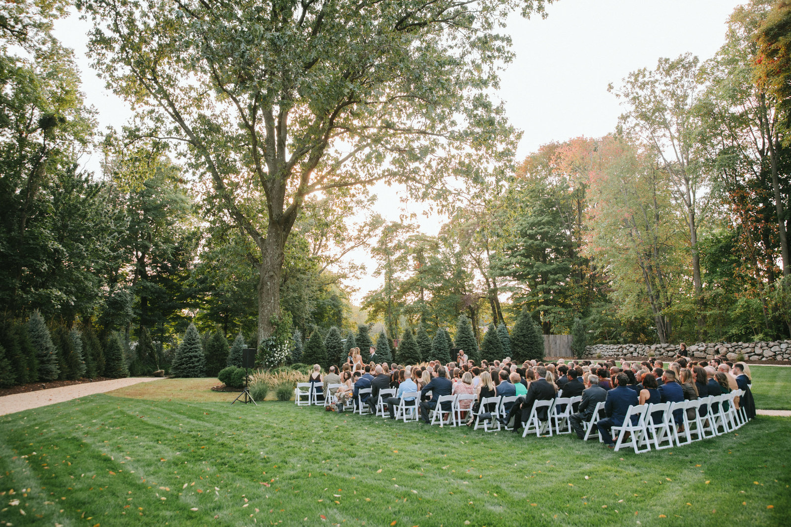 Outdoor Ceremony_Home Tented Wedding_Boho Wedding_Darien_Connecticut_1