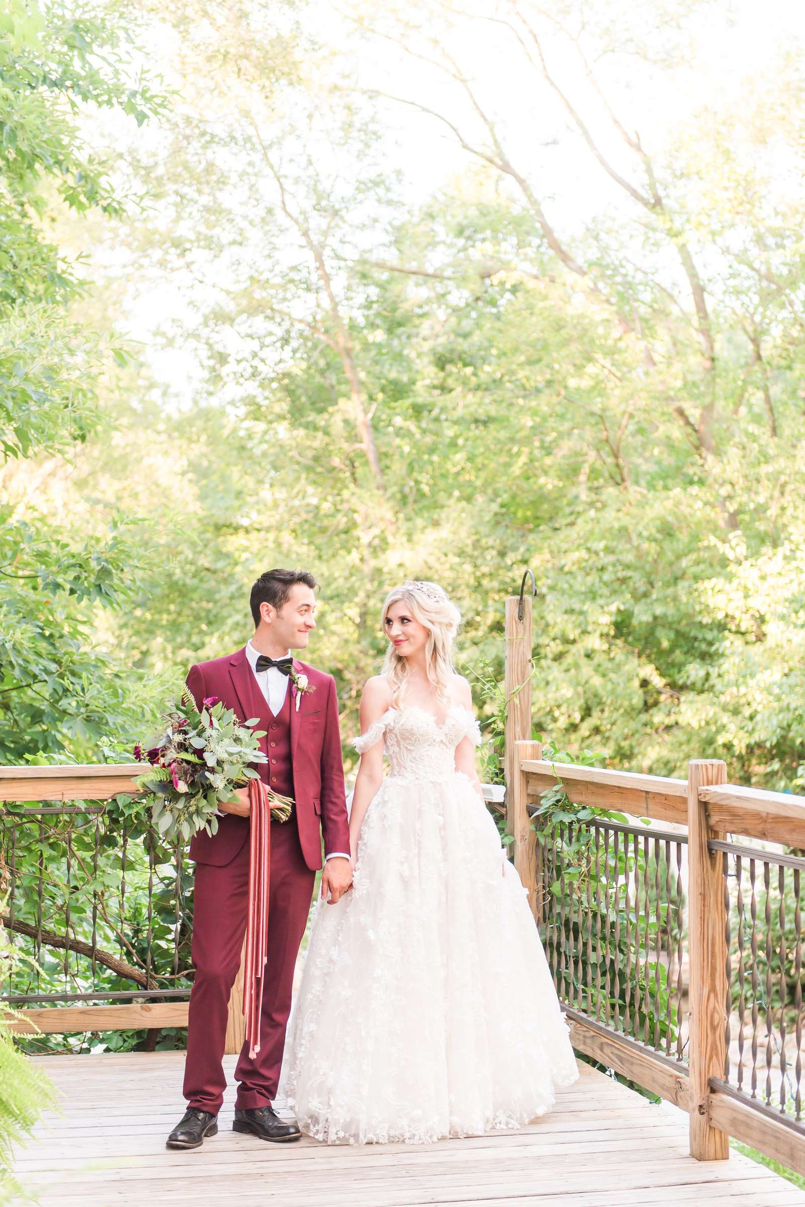 Romantic Wedding at Blue Dress Barn