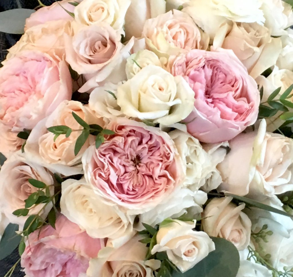 garden roses for a classic bridal bouquet