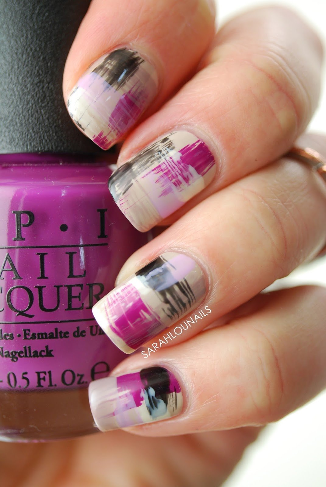 Purple Dry Brush Nails 4