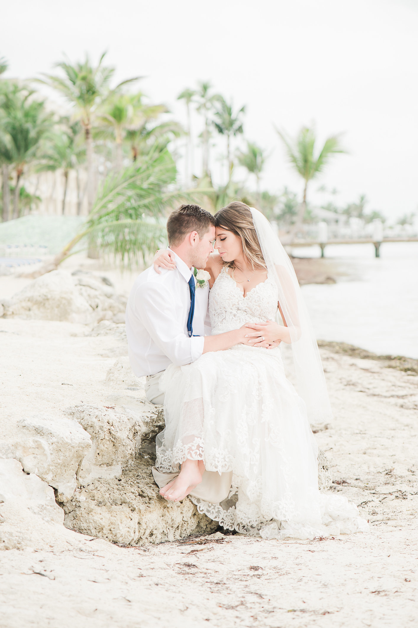Bride and Groom at Cheeca Wedding - Palm Beach Wedding Photography by Palm Beach Photography, Inc.