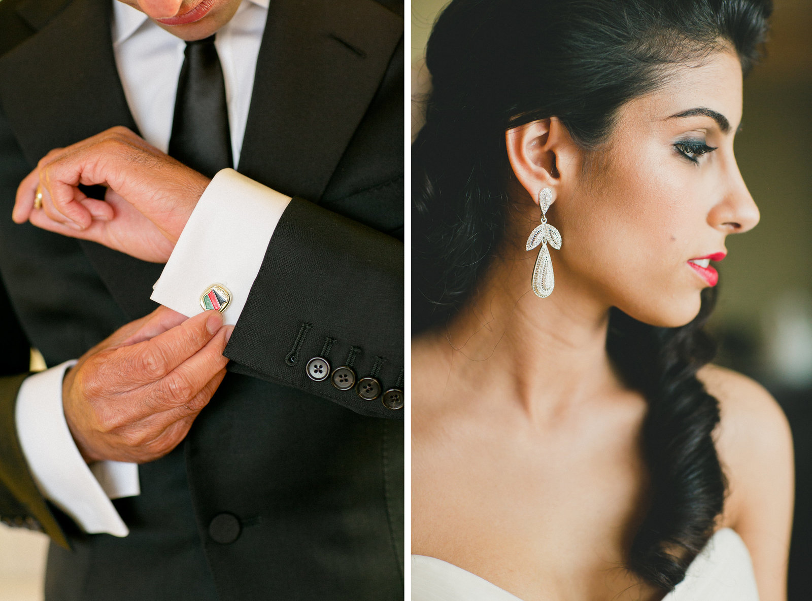 Wedding Earrings and cufflinks