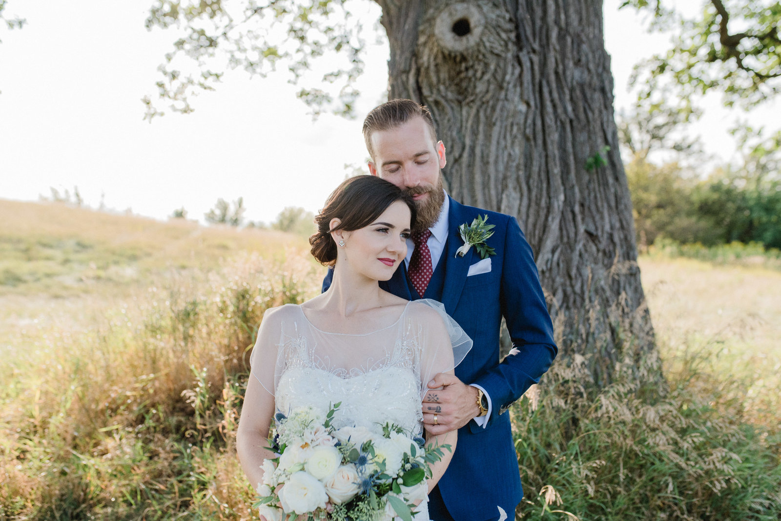 Bride and Groom Romantic Portraits Pipers Heath Golf Club Milton Ontario Modern Romantic | Jacqueline James Photography Toronto Wedding Photographer