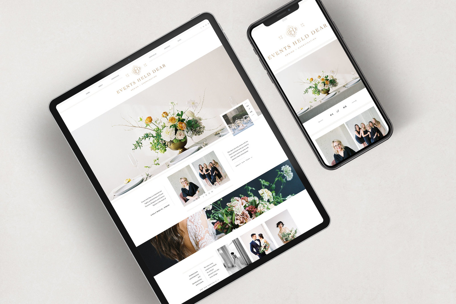 With Grace and Gold - Best Showit Design Designs Designer Designers Theme Themes Template Templates Web Website Websites for Photographers Creatives Small Business Owners - 2
