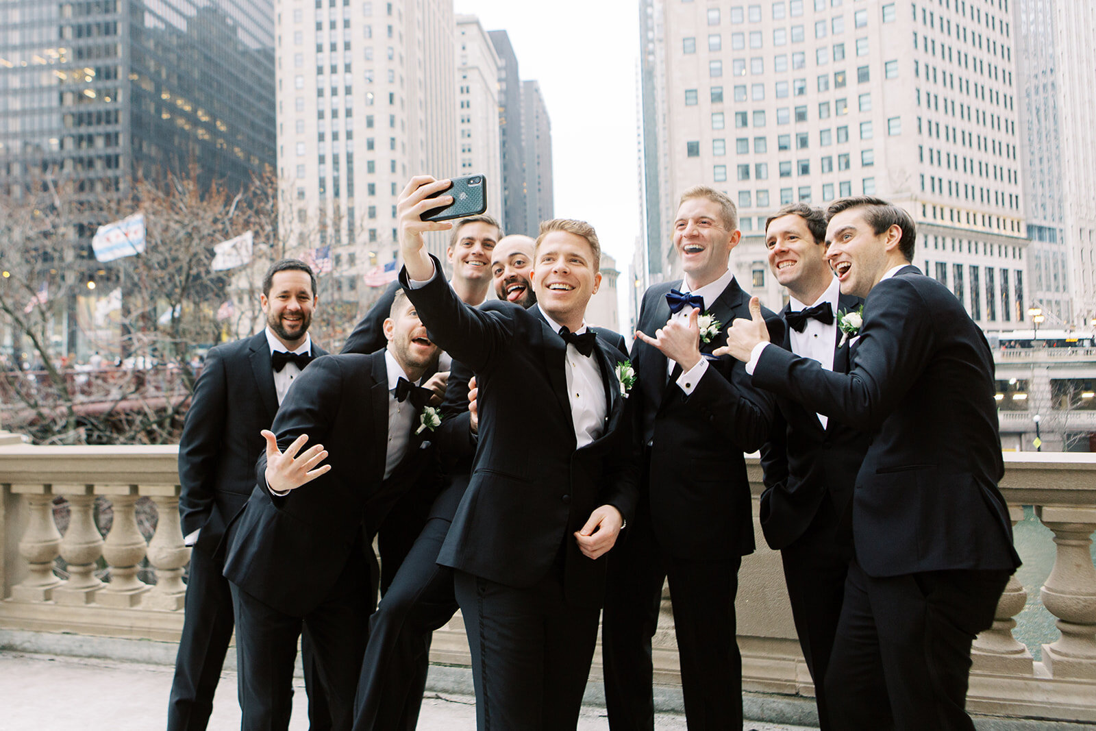 14-Venue-Six10-Wedding-groomsmen-selfie