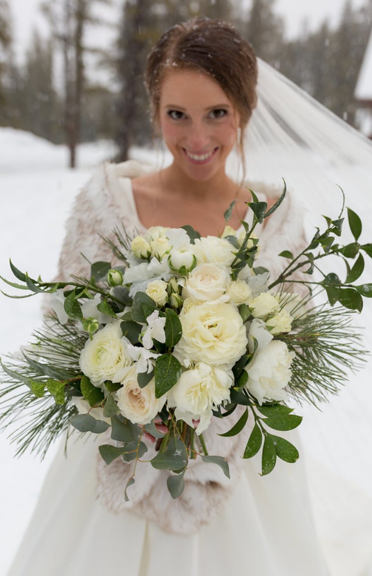 Bridal Bouquet for Winter Wedding