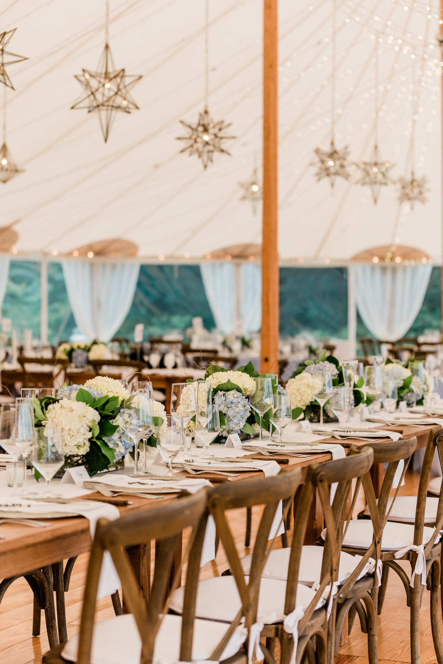 Tented waterfront wedding in Duxbury MA