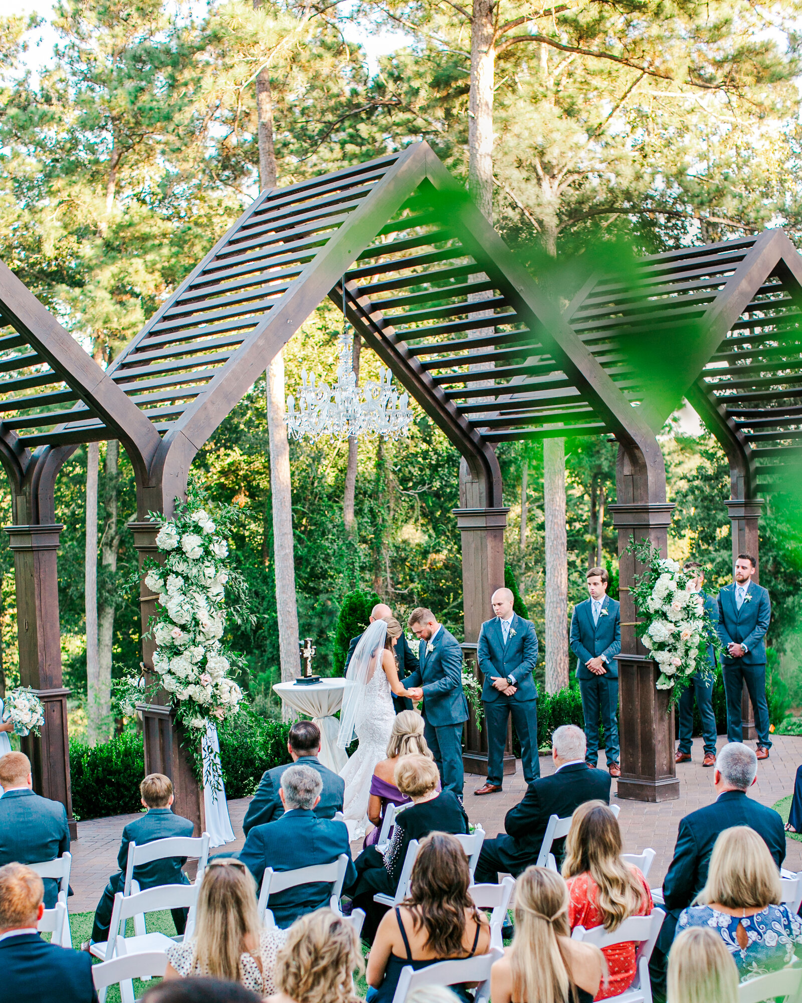 A wedding ceremony at the Highgrove Estate in Fuquay Varina NC