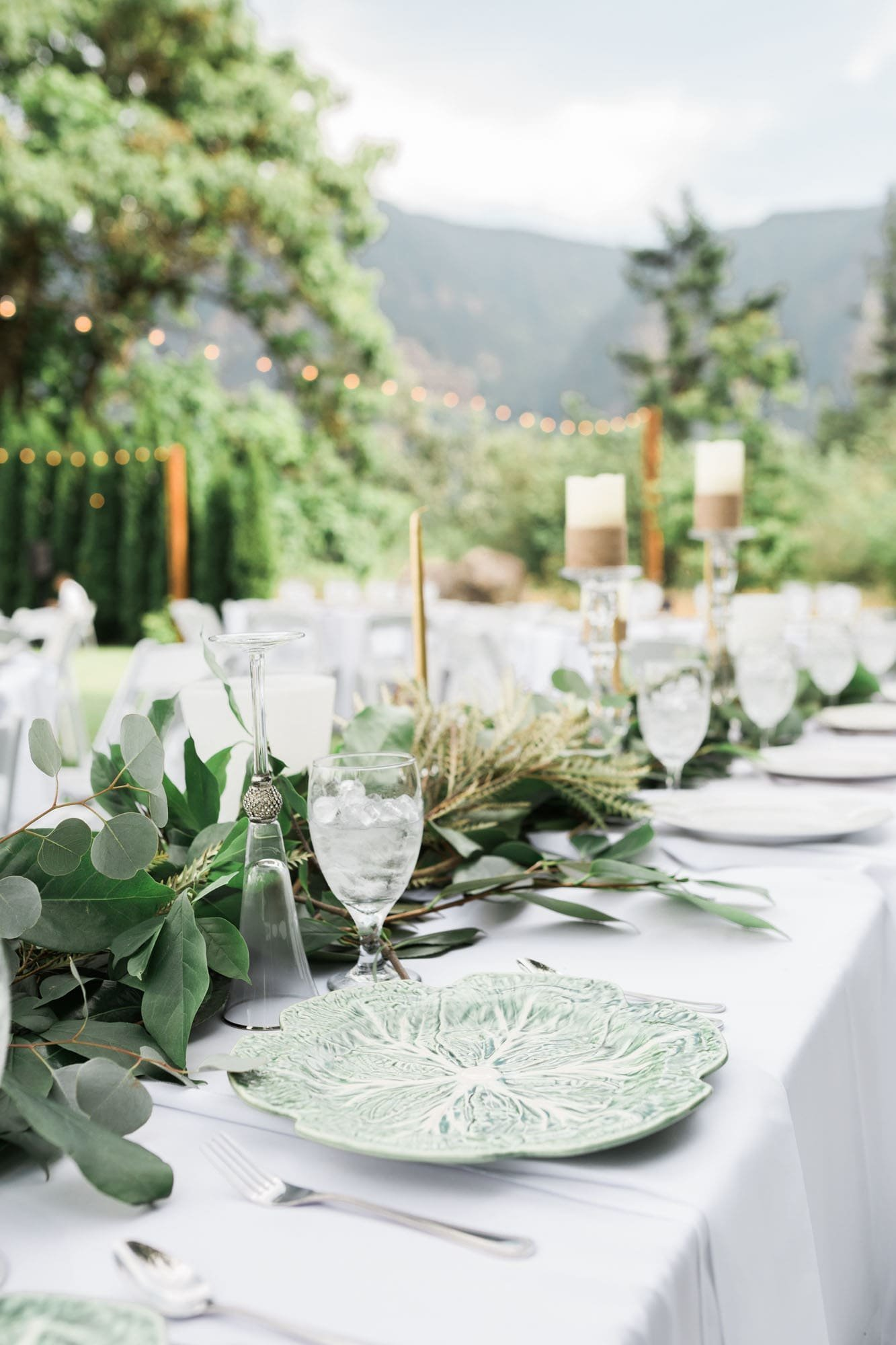 Head table at Cape Horn Estate wedding