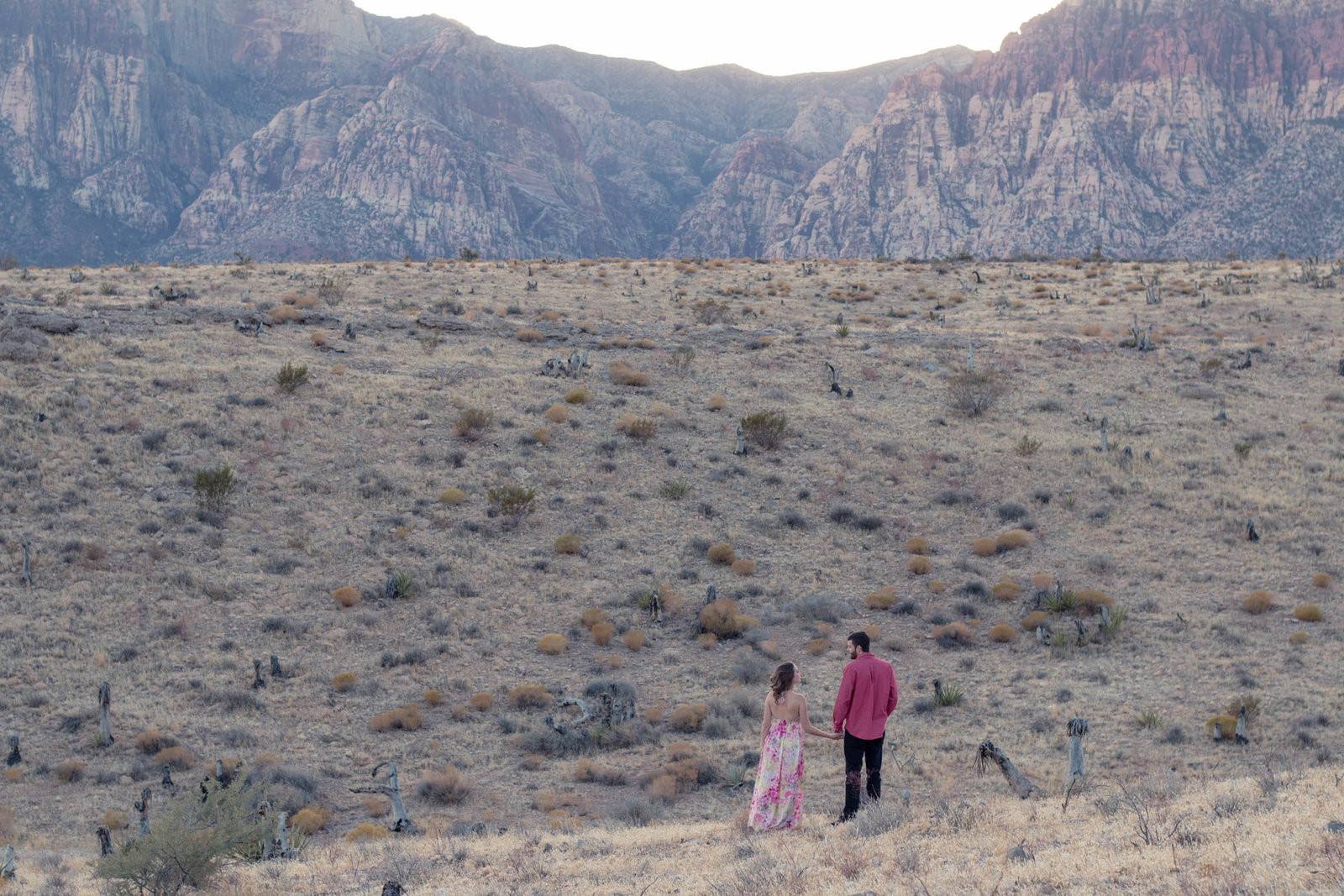 mountain engagement session in las vegas