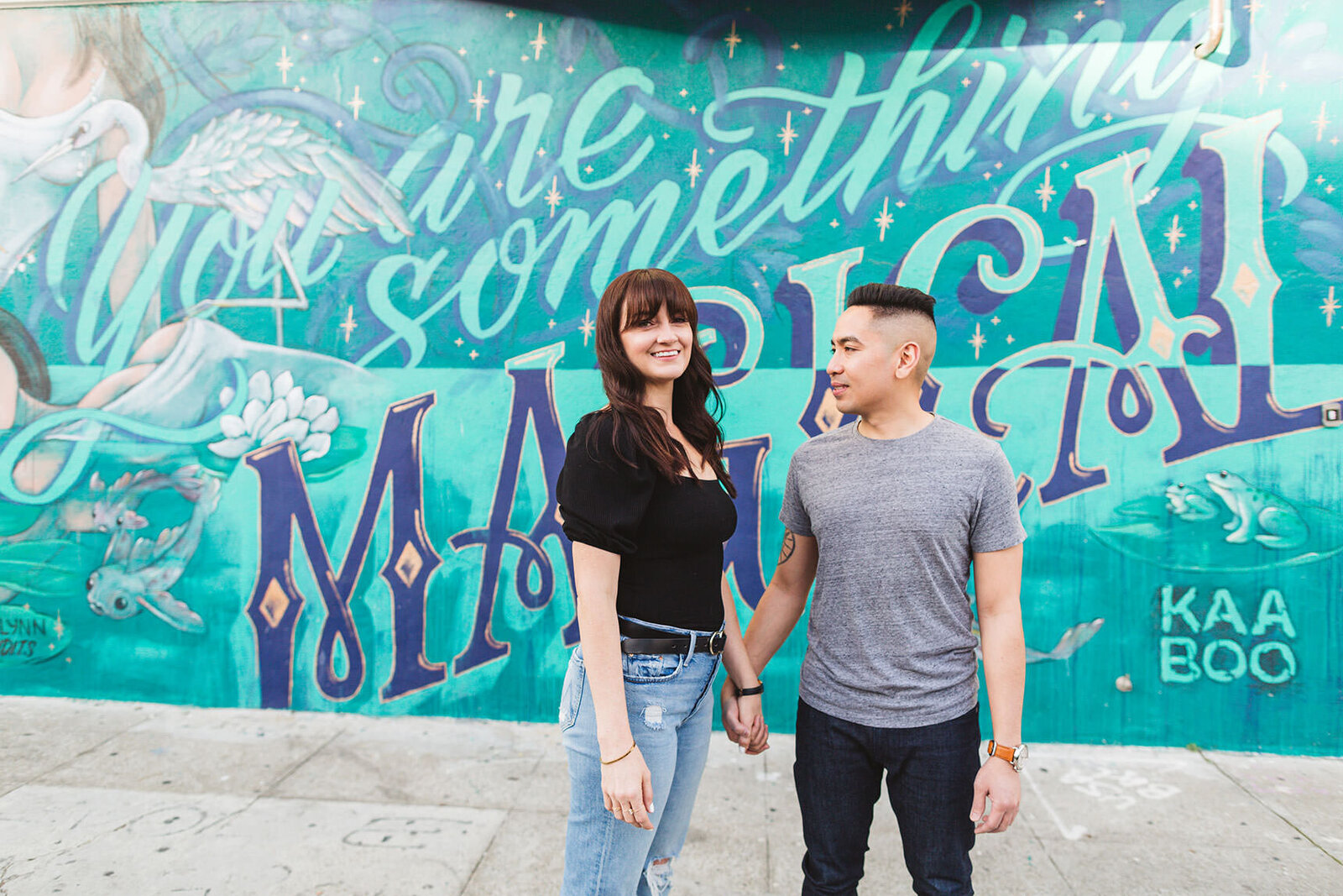 beautiful mission district engagement photography - san francisco engagement photographer