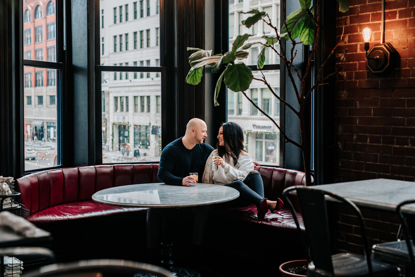 Michigan Wedding Photographer, Wright and Co Engagement Session, Downtown Detroit Engagement Session