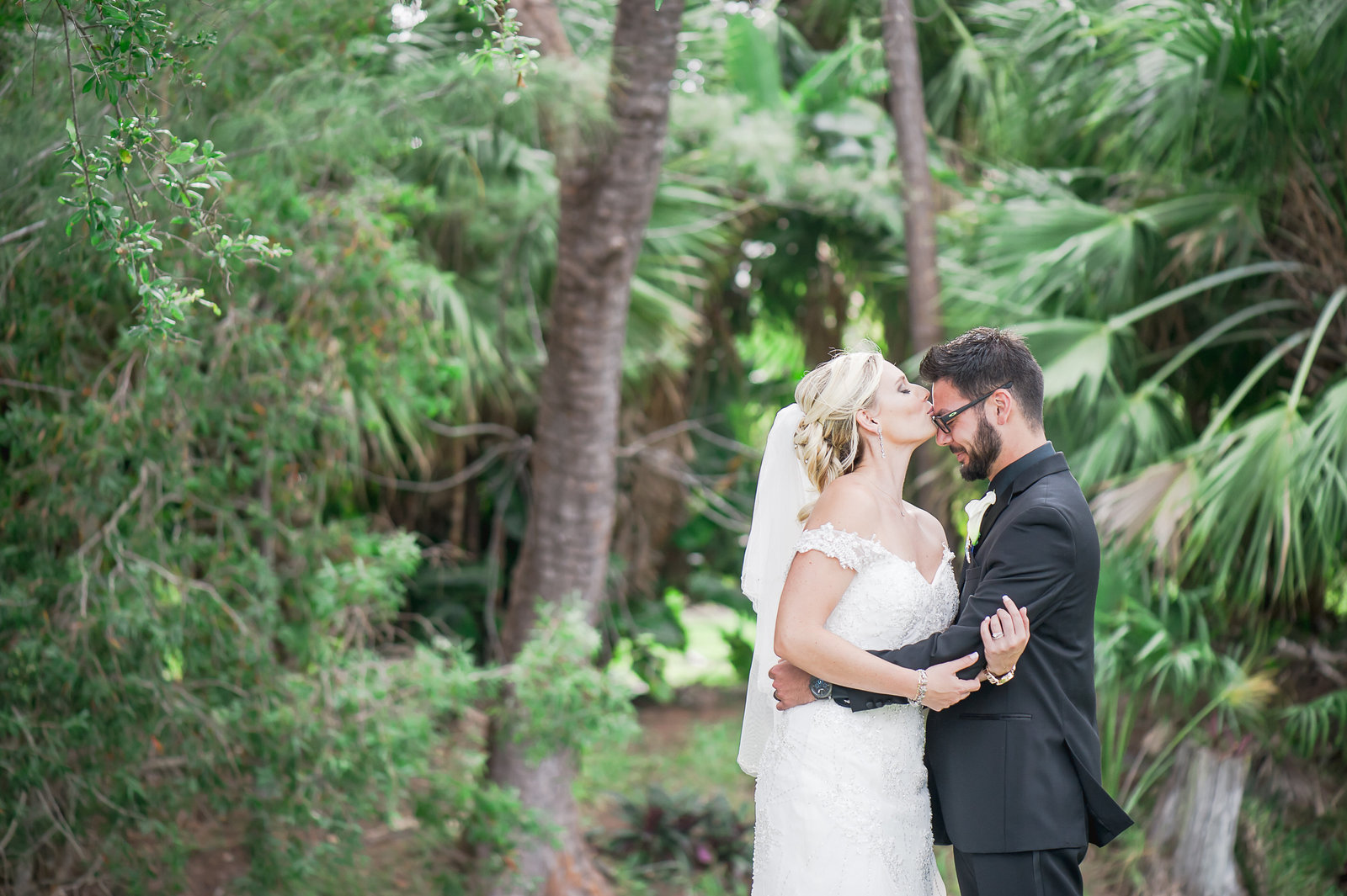 Kiss Forehead - Myacoo Country Club Wedding - Palm Beach Wedding Photography by Palm Beach Photography, Inc.