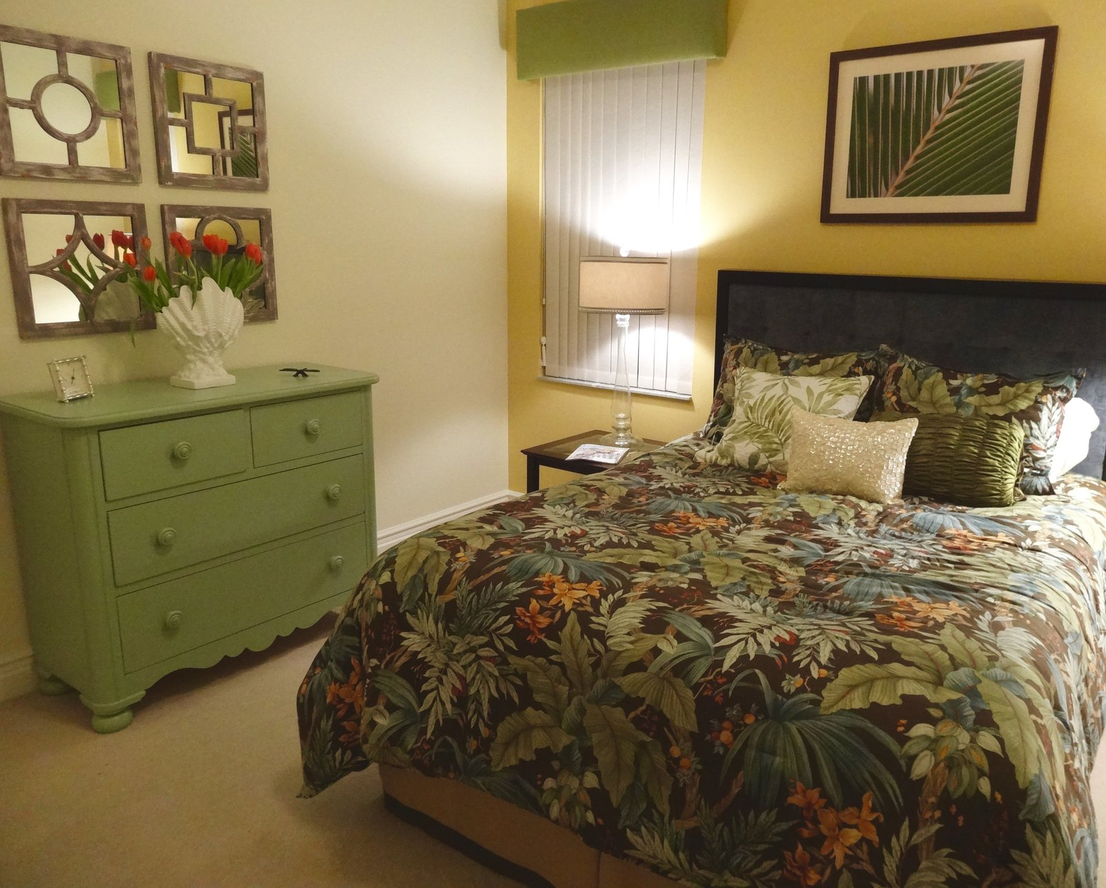 Florida Tropical Guest Room Interior Design