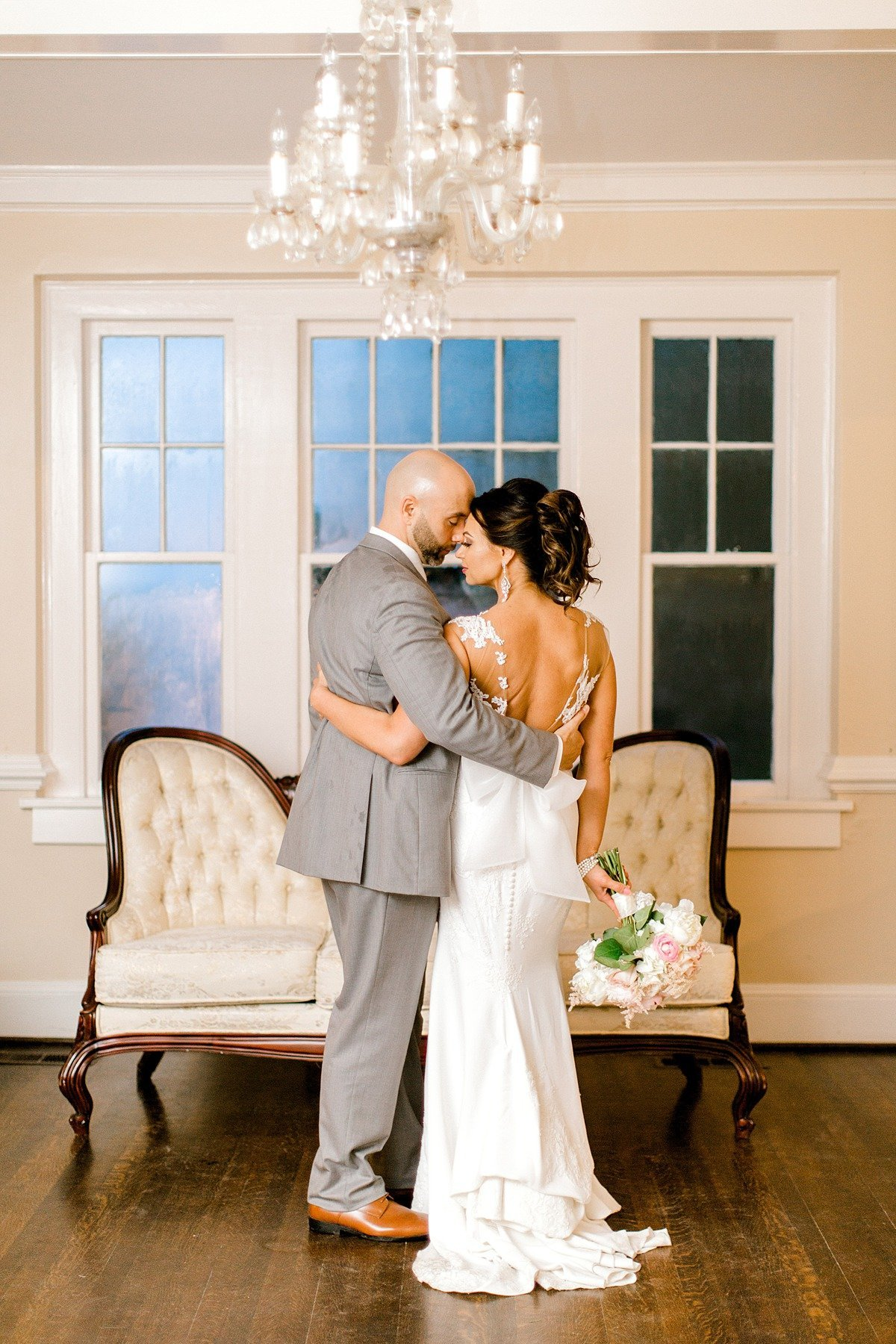 Elegant Spring Pink Abilena Plantation Indoor Rainy Wedding New Bern NC Andrew & Tianna Photography-124