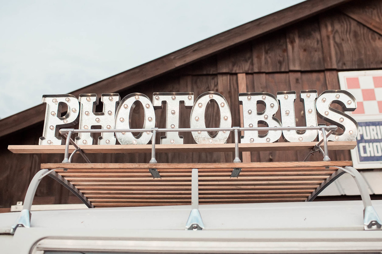 Photo bus is set up for reception, Boals Farm, Charleston, South Carolina