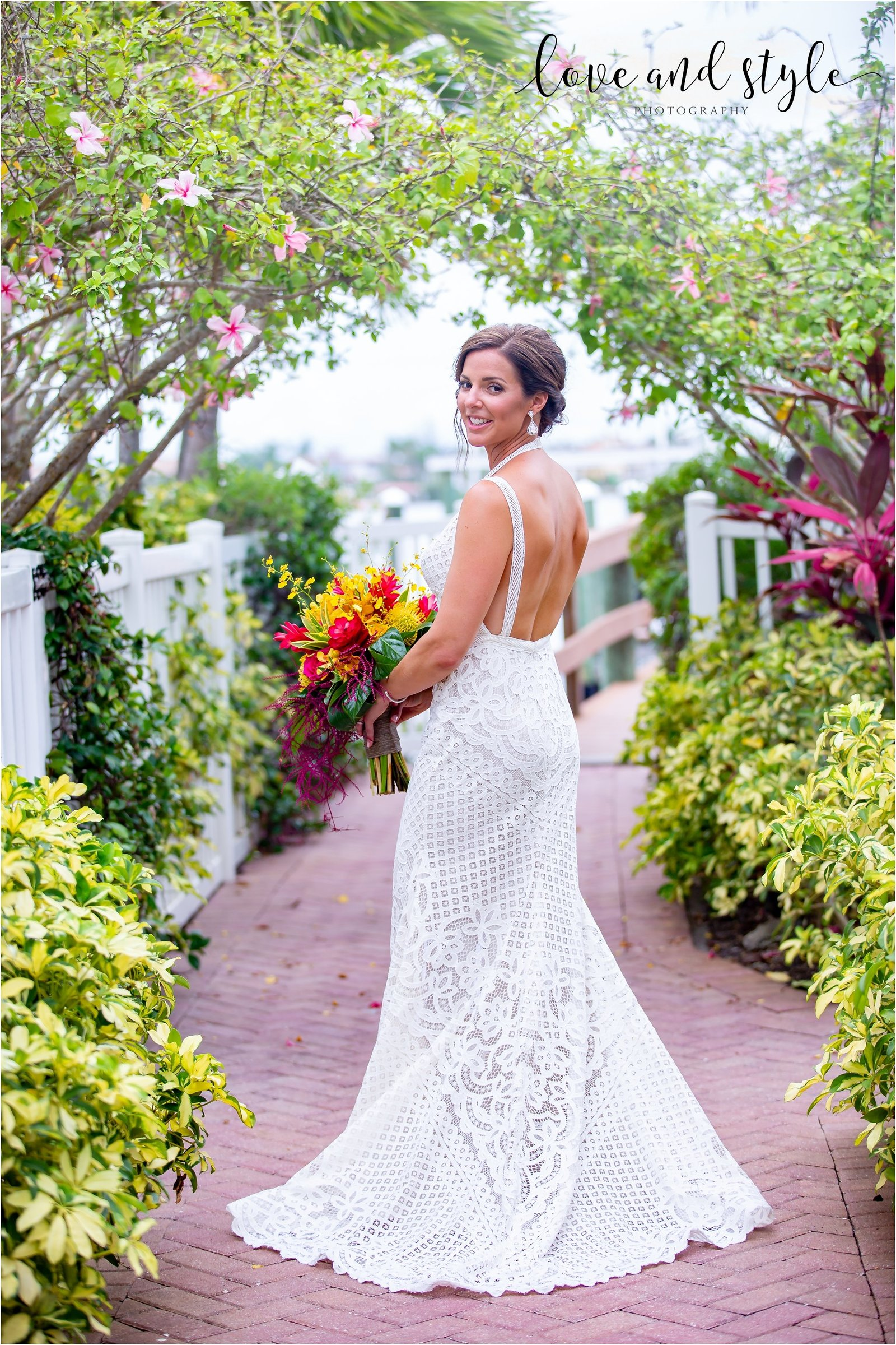 Bridal Portrait at The Tortuga Inn, Anna Maria Island Florida
