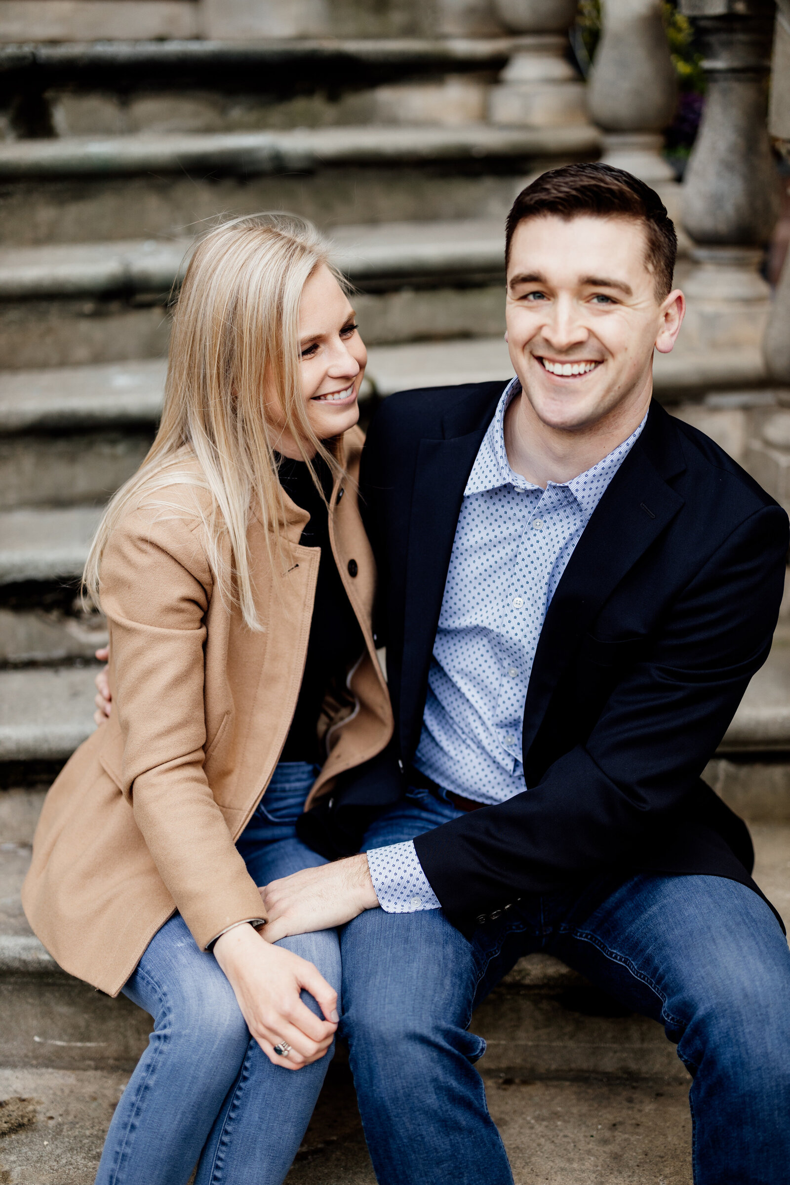 engaged couple rittenhouse square