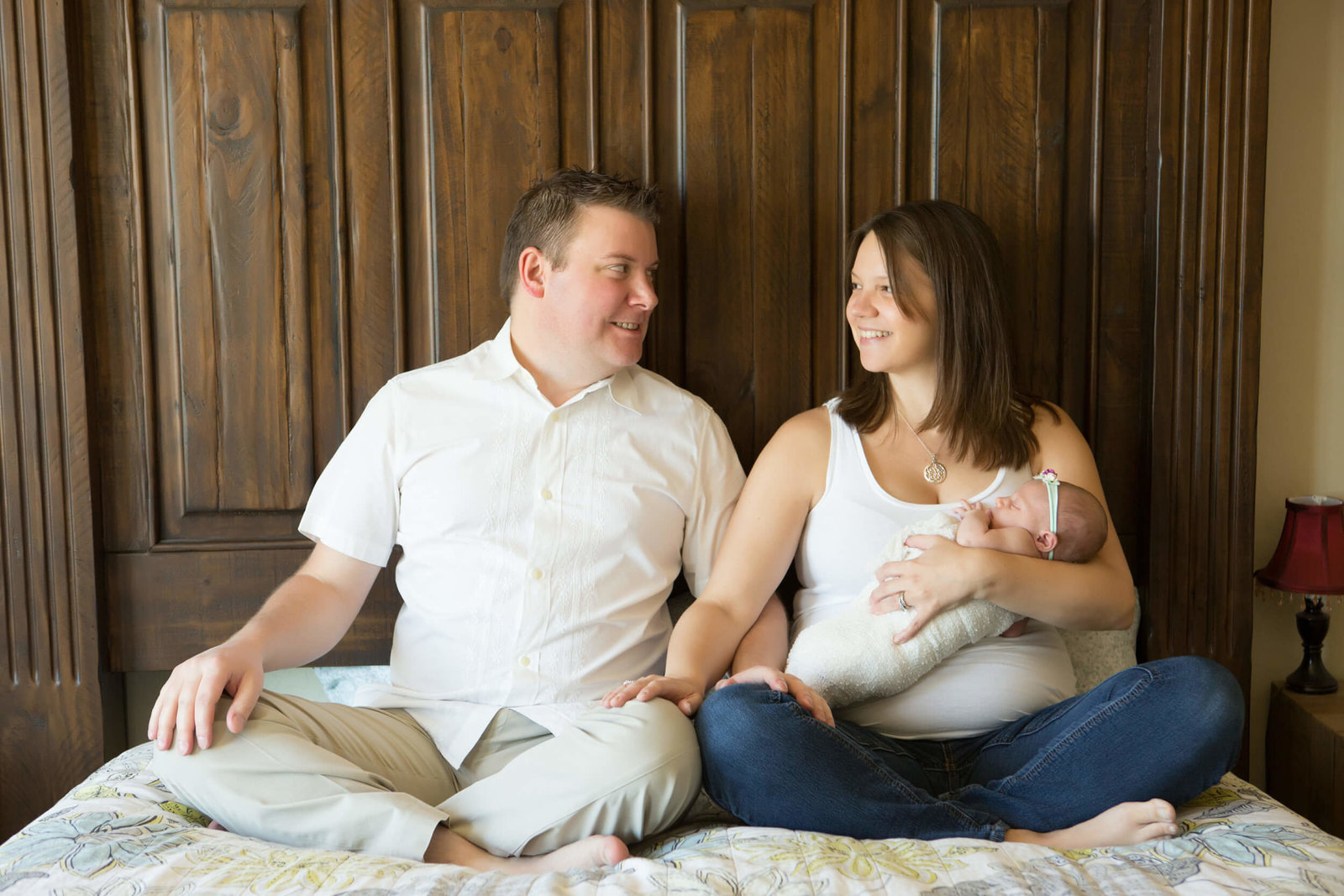 indoor family newborn session