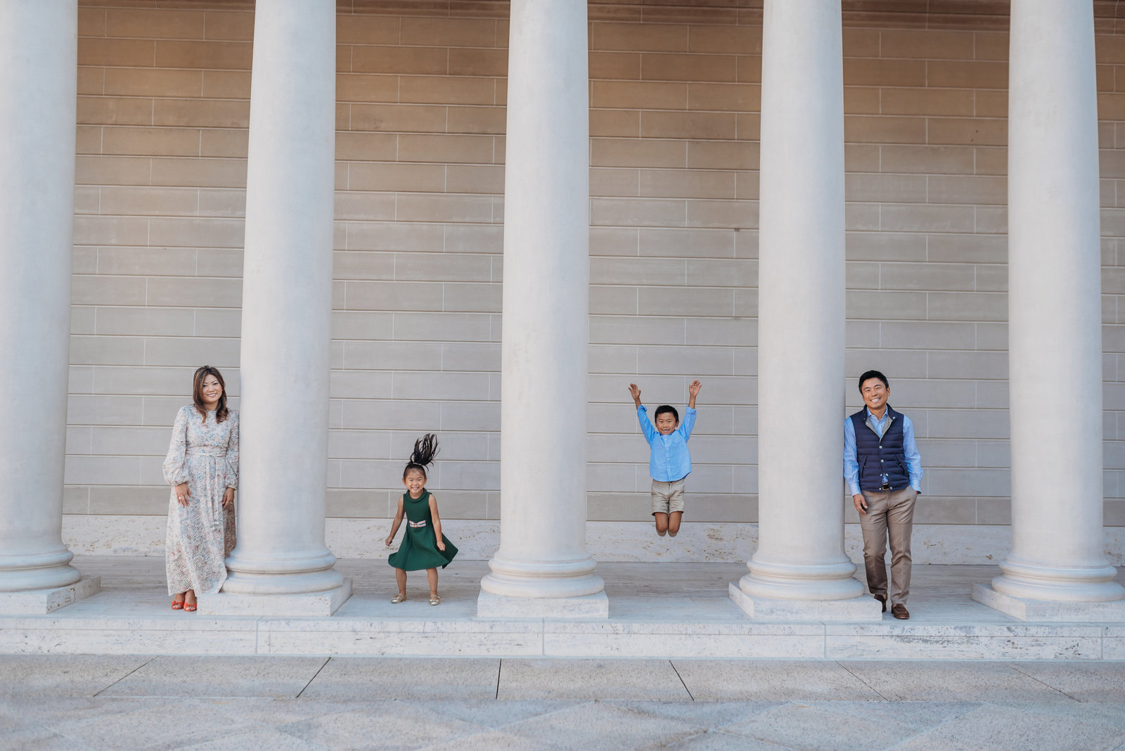Family Photoshoot Legion of Honor Fun Photoshoot San Francisco
