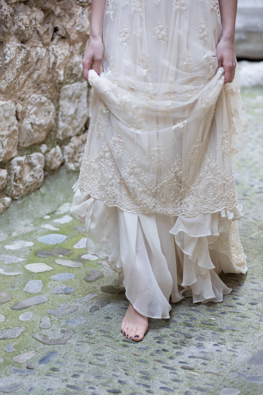 Artemis_champagne_beaded_lace_boho_wedding_dress_hem_JoanneFlemingDesign_AveryLynnPhoto