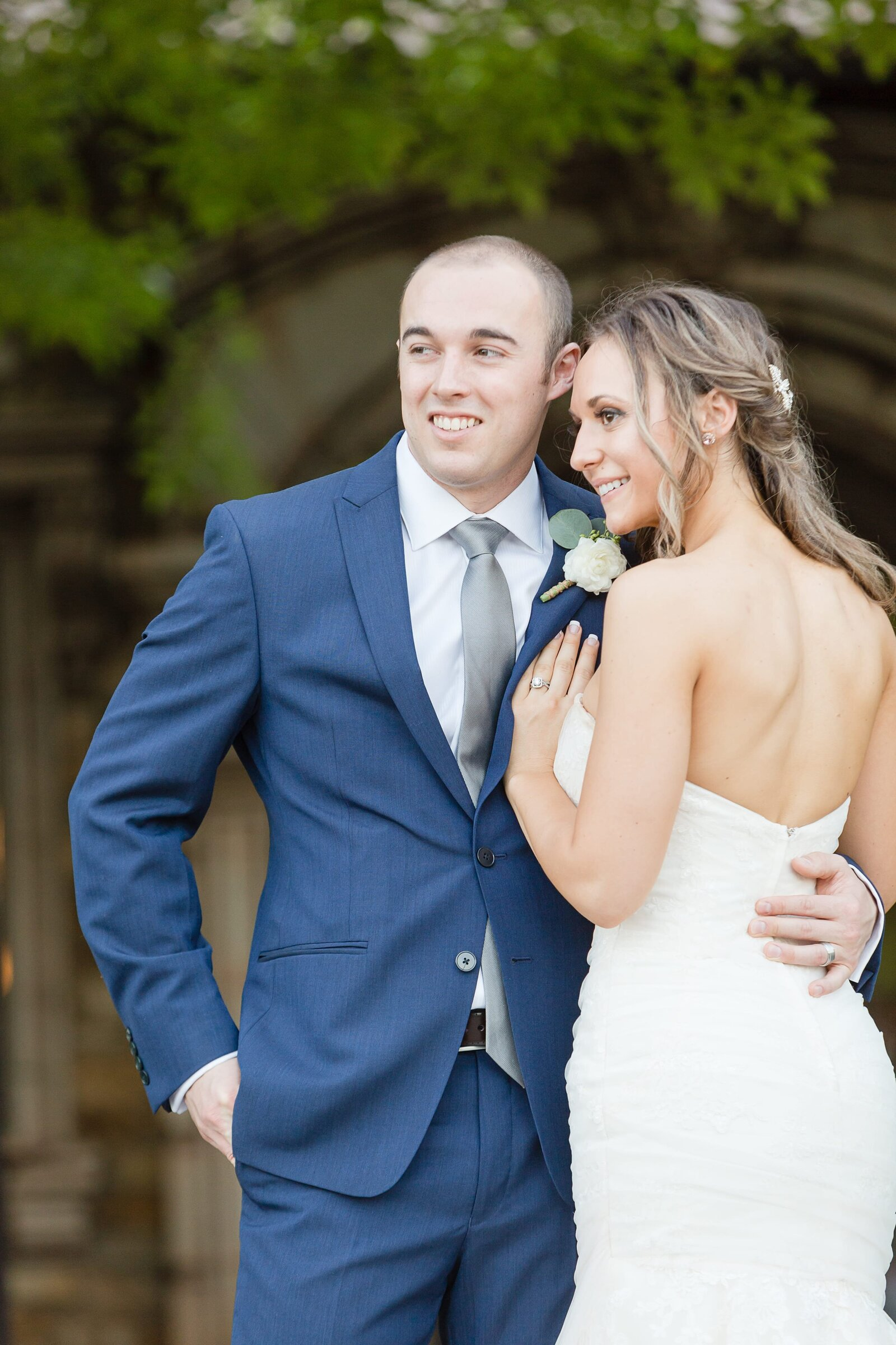 groom-with-blue-suite-and-bride