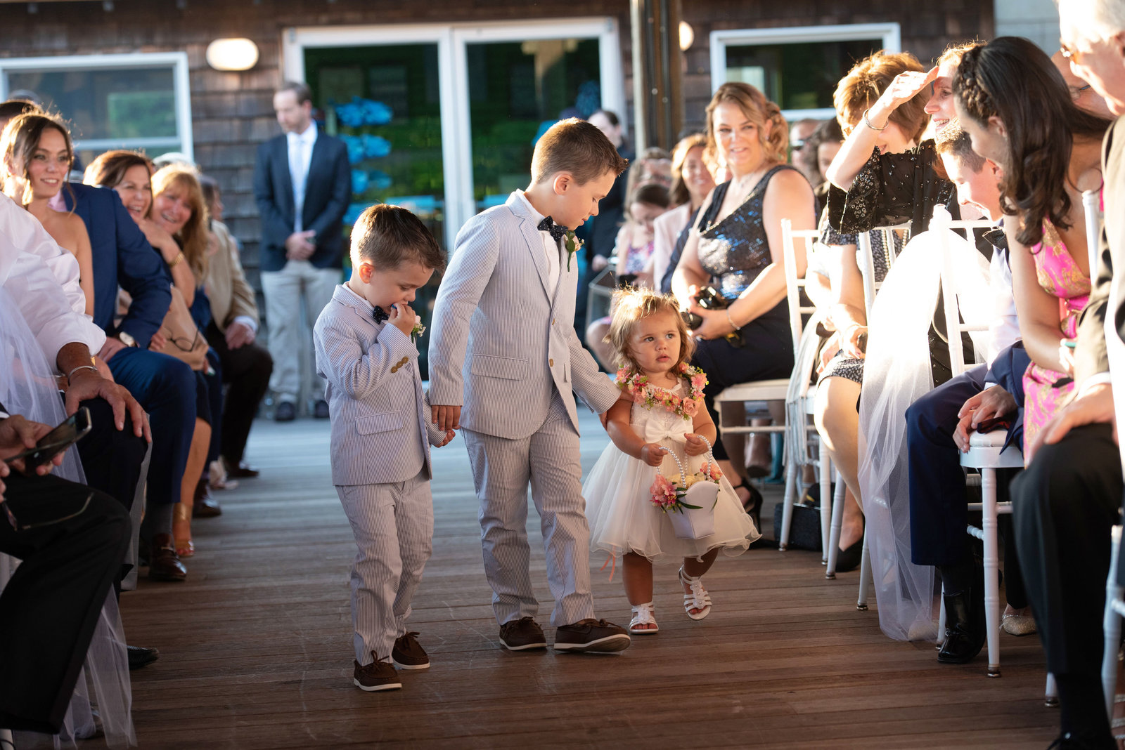 Ring bearers and flower girl at Atlantis Banquet and Events