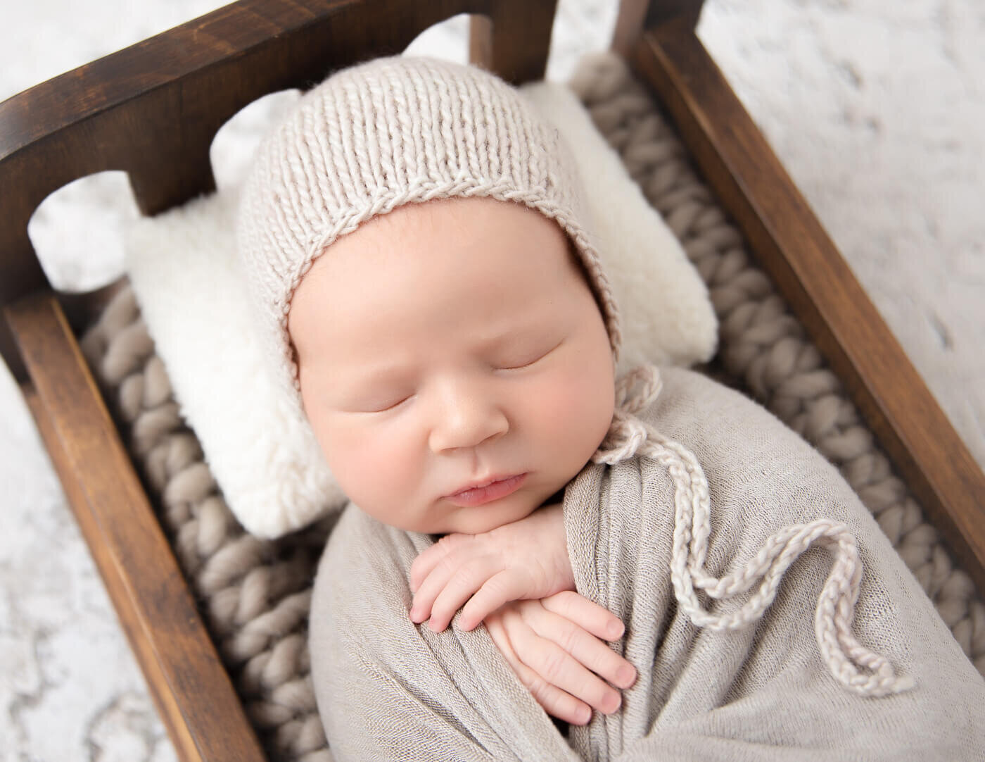 Lovely newborn boy at our Rochester, Ny studio.