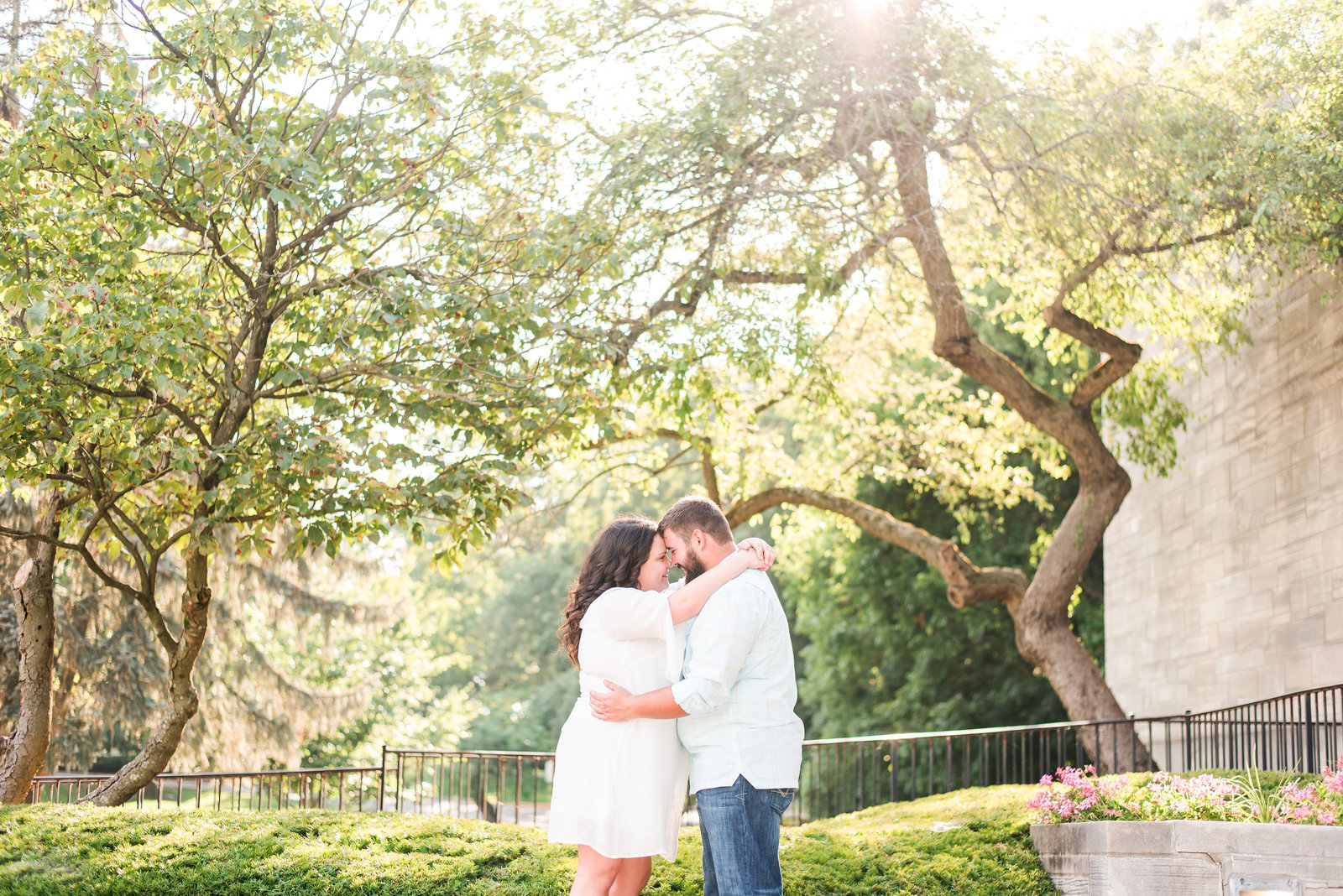 Summer Engagement Session at Holcomb Gardens
