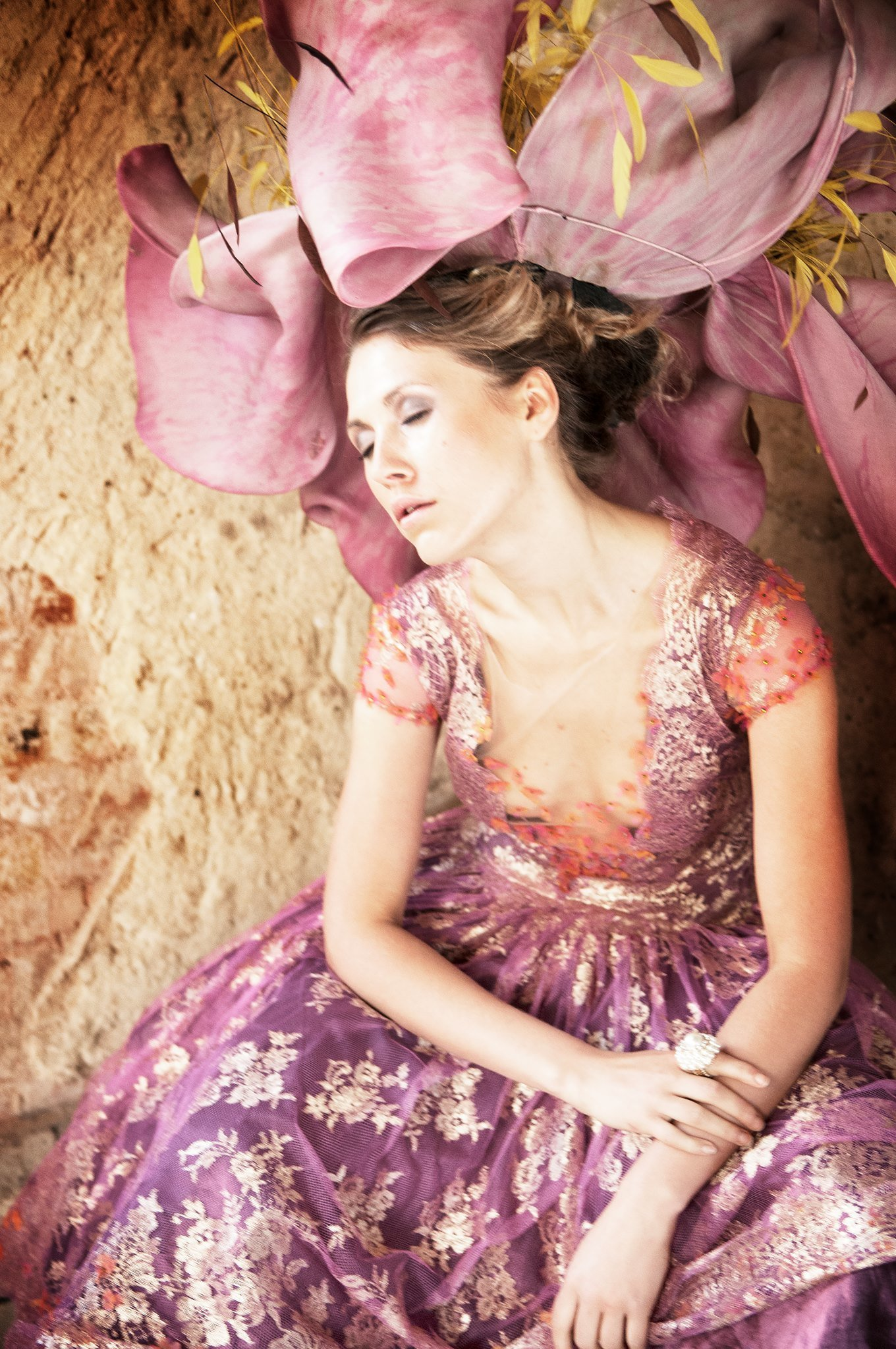 Svetlana_pink_gold_lace_tealength_cocktail_part_dress_JoanneFlemingDesign_BruceSmithPhoto (3)