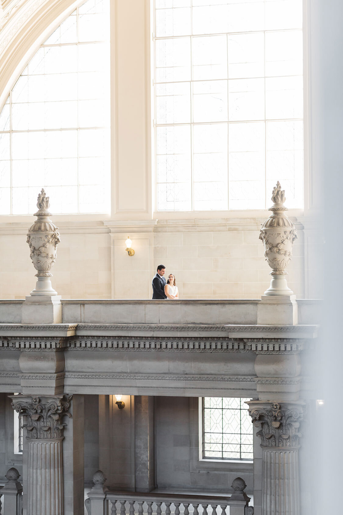 a candid capture of a sf city hall wedding couple by Zoe Larkin Photo