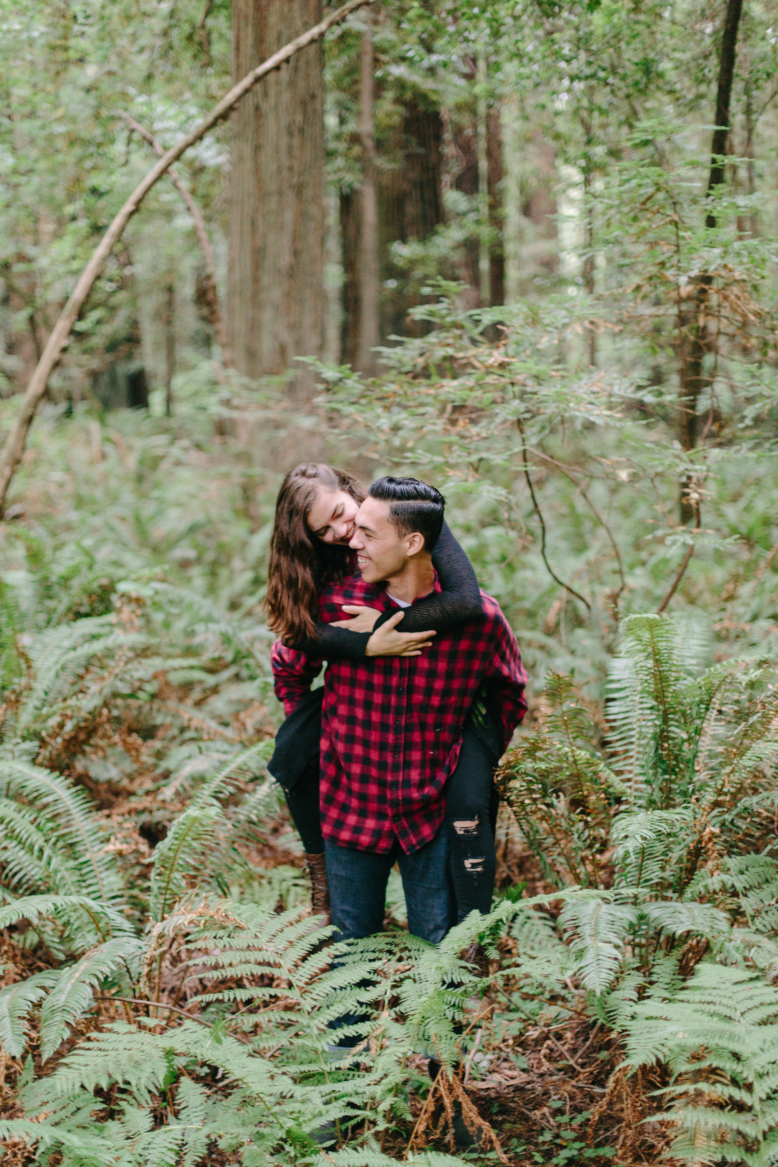 Redwood National Park Avenue of the Giants Engagement Session -7357