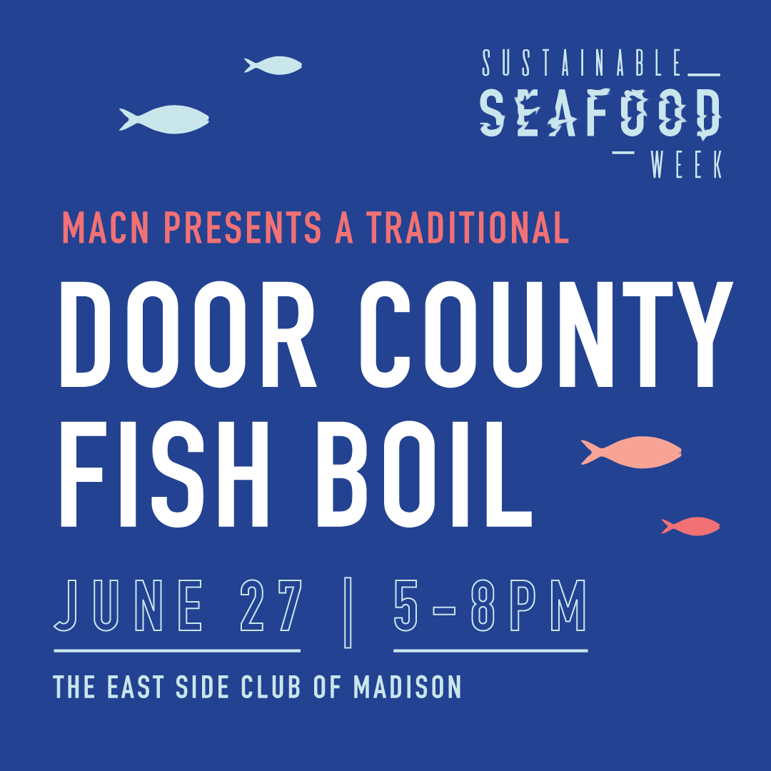 Social Media graphic for a Sustainable Seafood Signature Event by Christie Evenson