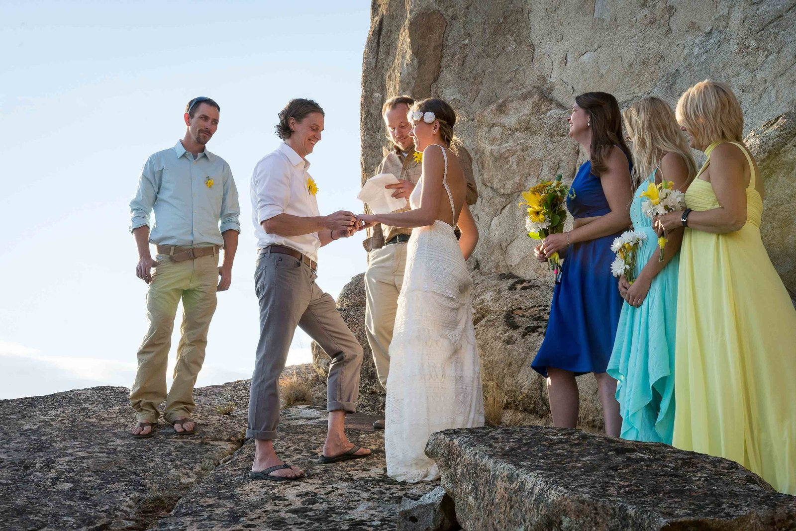 Cliff top intimate wedding  ceremony
