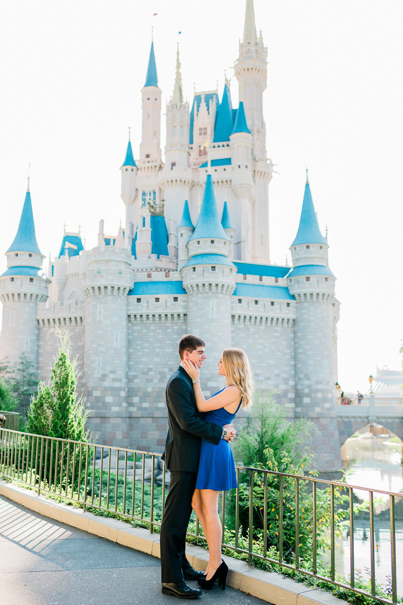 Orlando Engagement Photographer | Disney Magic Kingdom Engagement Session | Enagement at Disney-2