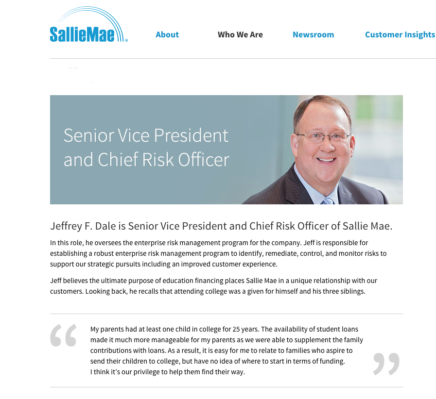 website images of sallie mae executive headshot portraits