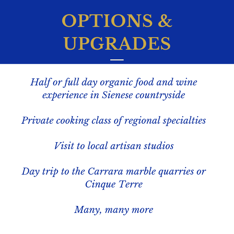 Timeless Tuscany P6 Options Upgrades
