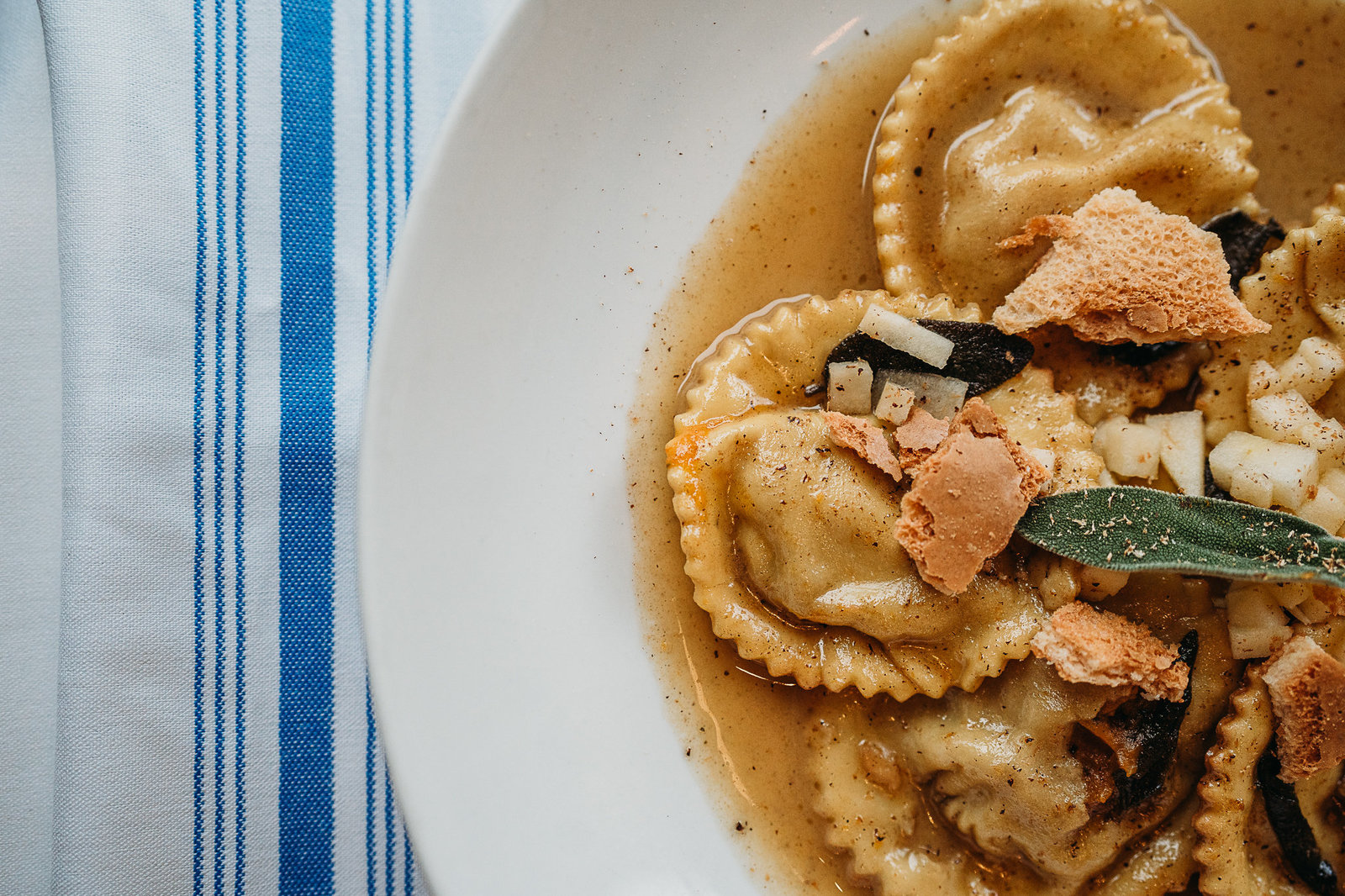 food photography of ravioli for restaurant in natick