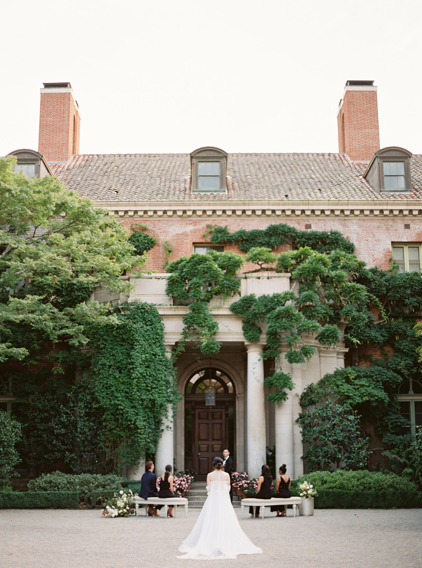 Luxury Micro Wedding Ceremony at Filoli Historic Mansion and Gardens