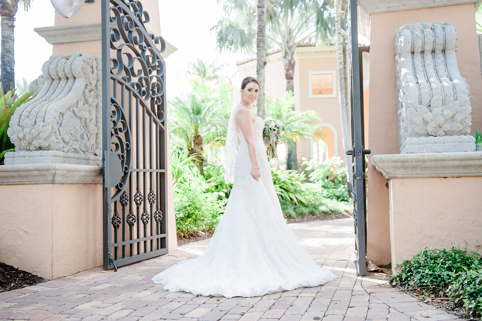 Bridal Pose - Country Club at Mirasol Wedding - Palm Beach Wedding Photography by Palm Beach Photography, Inc.