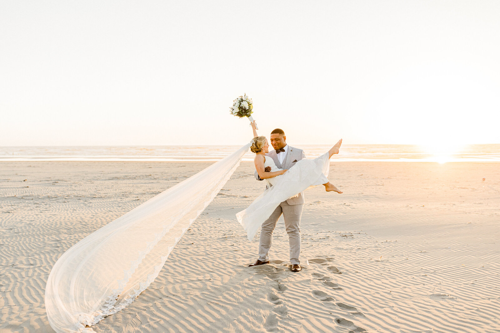 sunset beach elopement at cannon beach, oregon