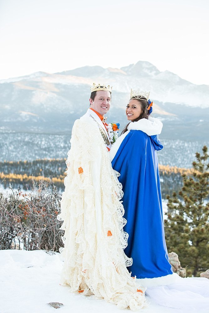 Colorado winter wedding at 3m Curve in Rocky Mountain National Park