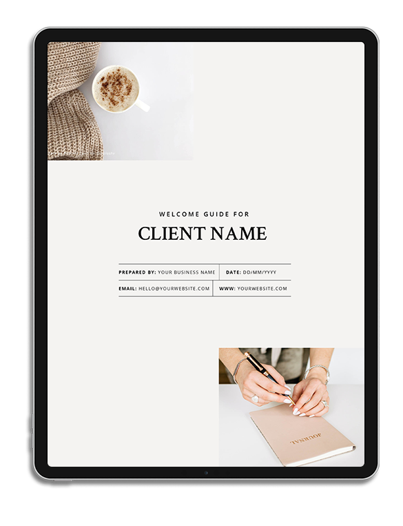 One6Creative_Client Welcome Guide iPad Mockup