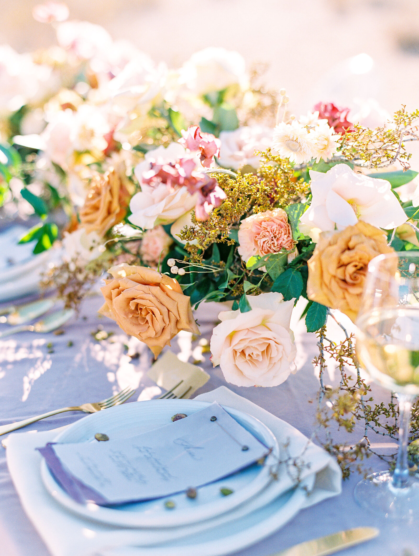 Honey-Rose-Wedding-Floral-Center-Piece-JannaBrown-Babsie