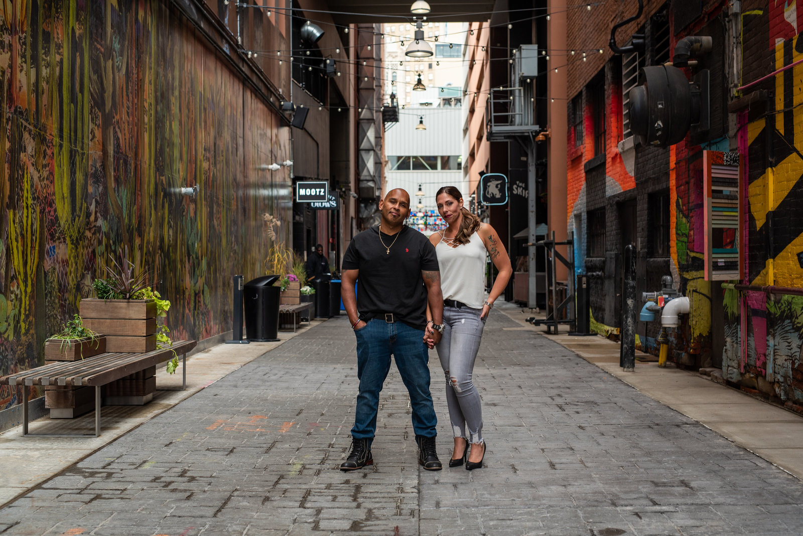 Michigan Wedding Photographer, The Belt Detroit Engagement Session, Engagement Session in Detroit,