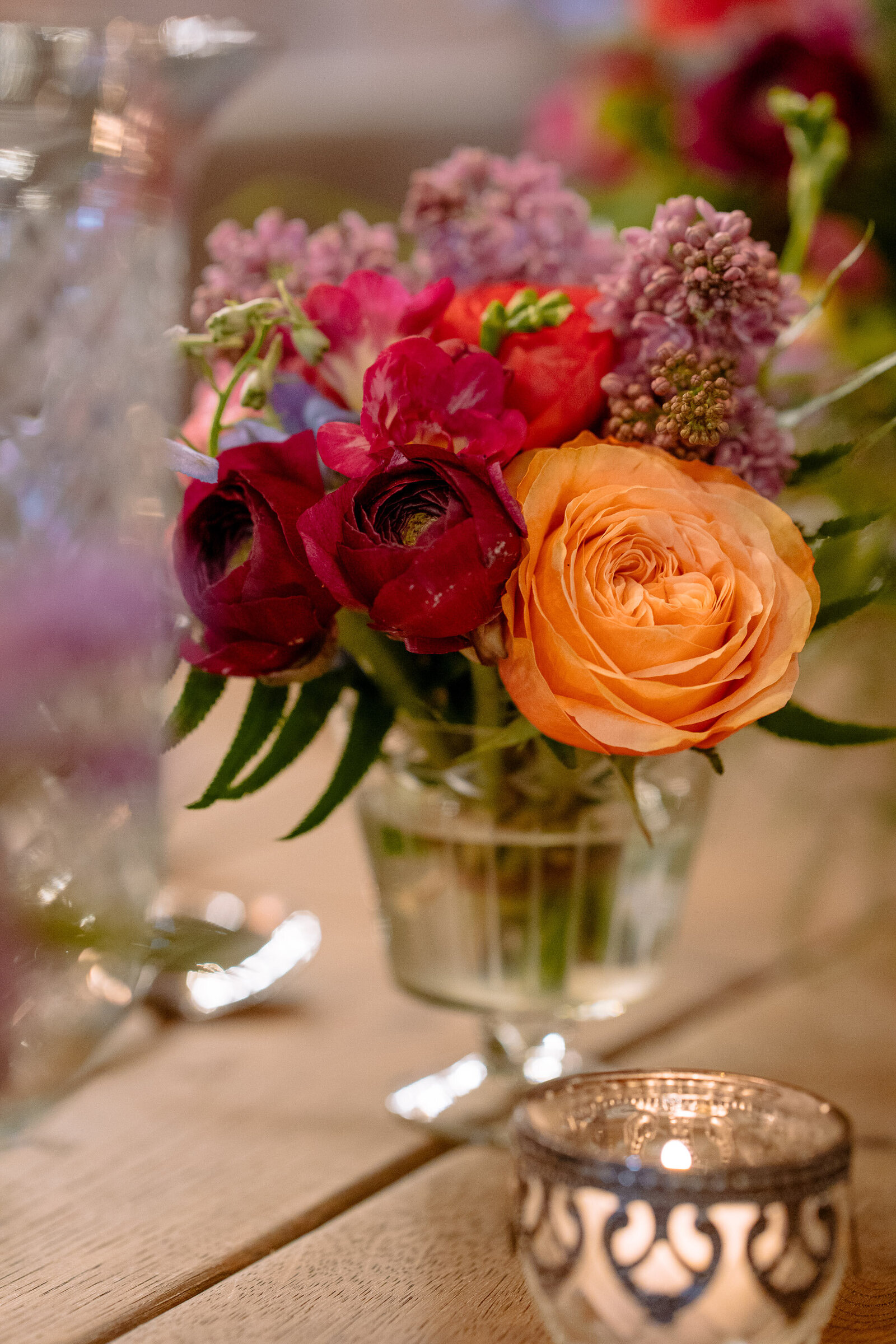 Wedding flowers at Wharfedale Grange