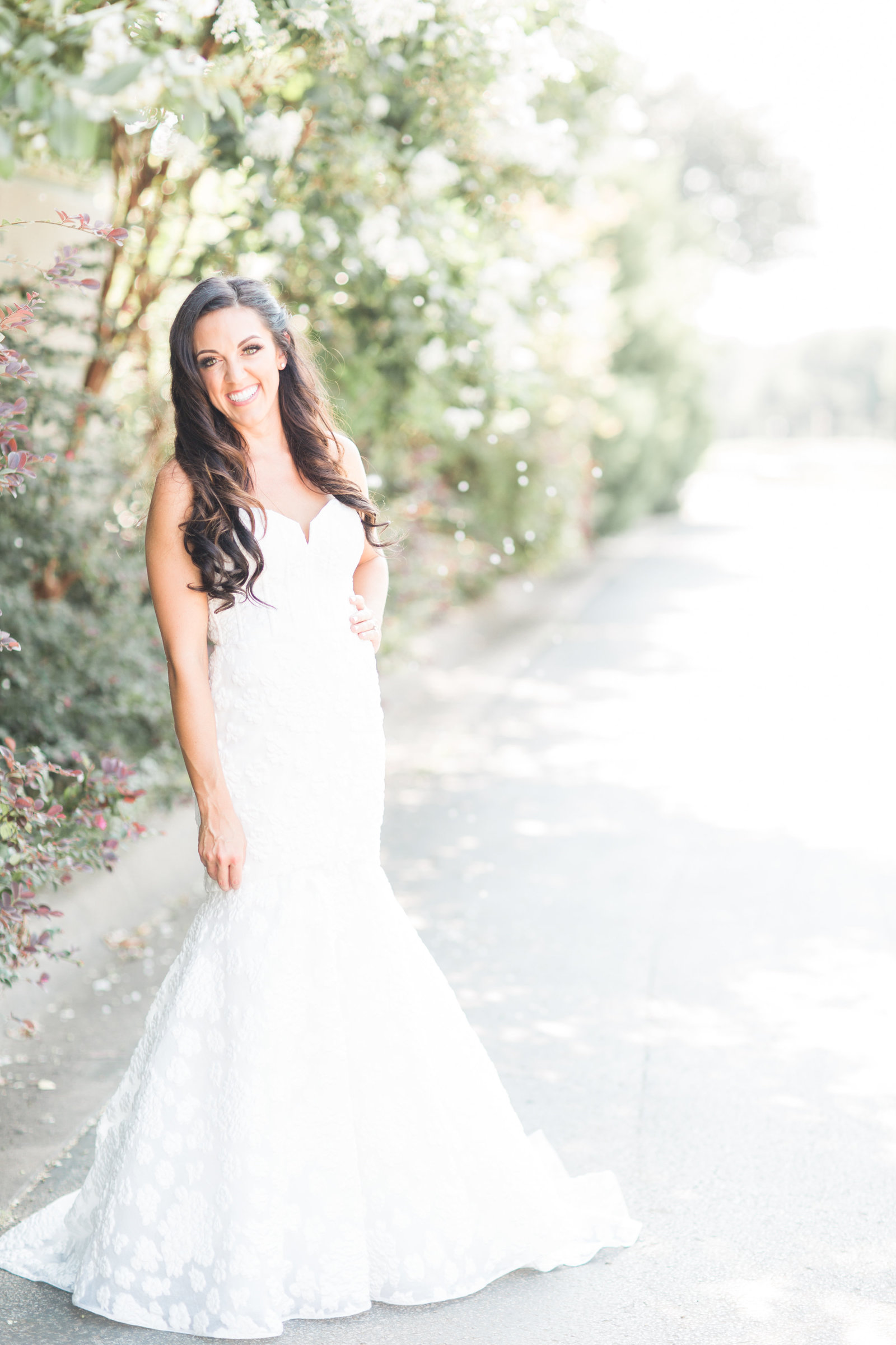 ashley stunning in her bridal gown