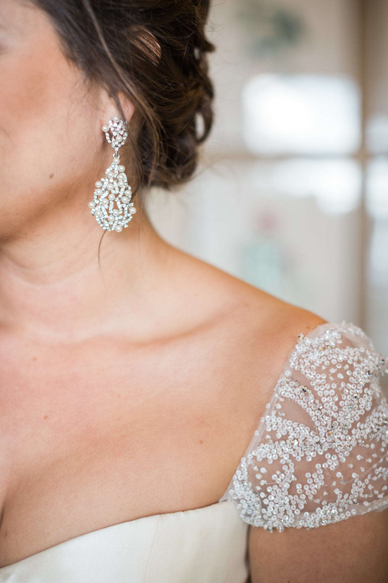 details on the brides reem acra dress